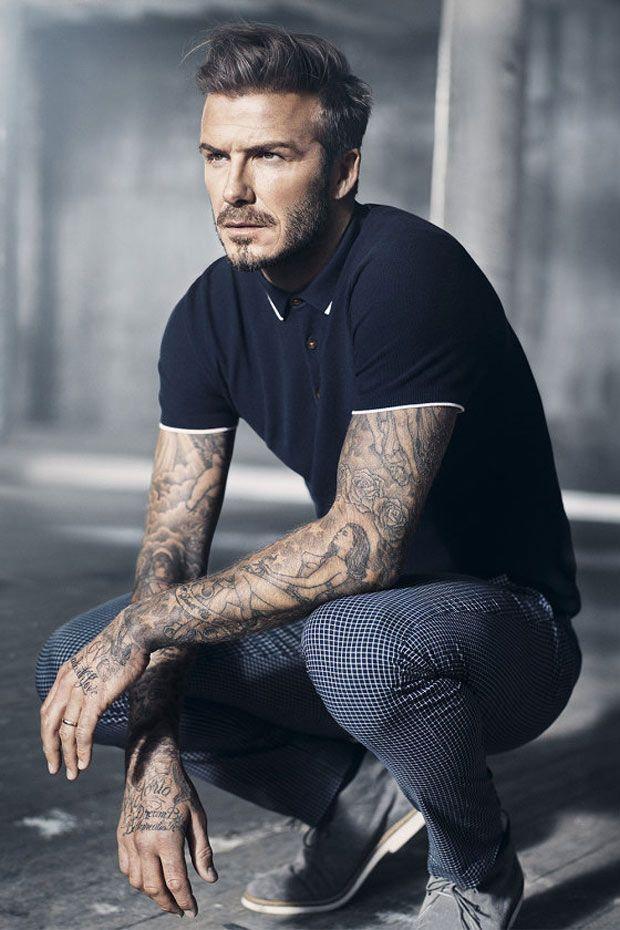 David Beckham apresenta sua nova coleção masculina da H