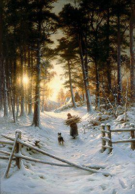 Winter, 1901, Joseph Farquharson (1846-1935). Photo © Cardiff City Hall / Rob Watkins 2004
