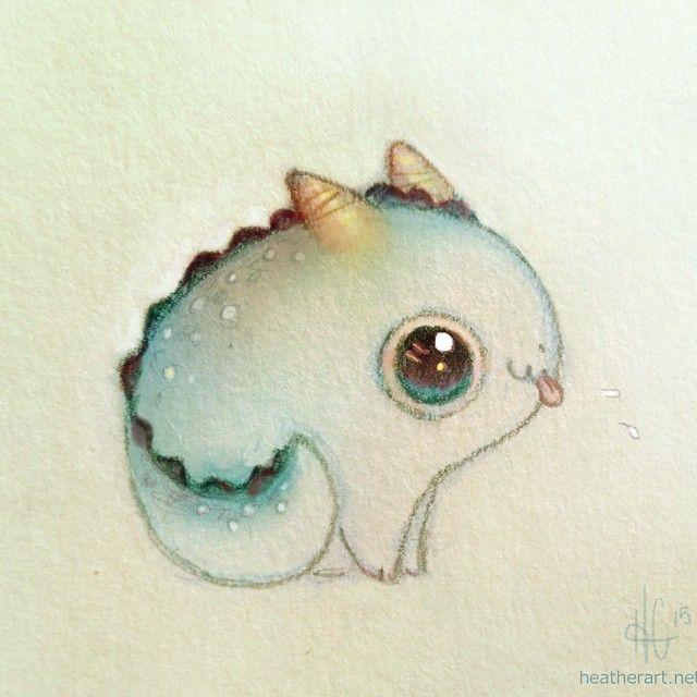 """Pfthhhfff... #pebbledragon #dragon #blue  Print available on Society6 @heathersketcheroos!"""