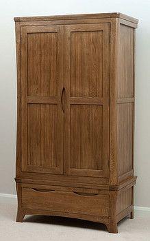 £548.55 Orrick Rustic Solid Oak Wardrobe