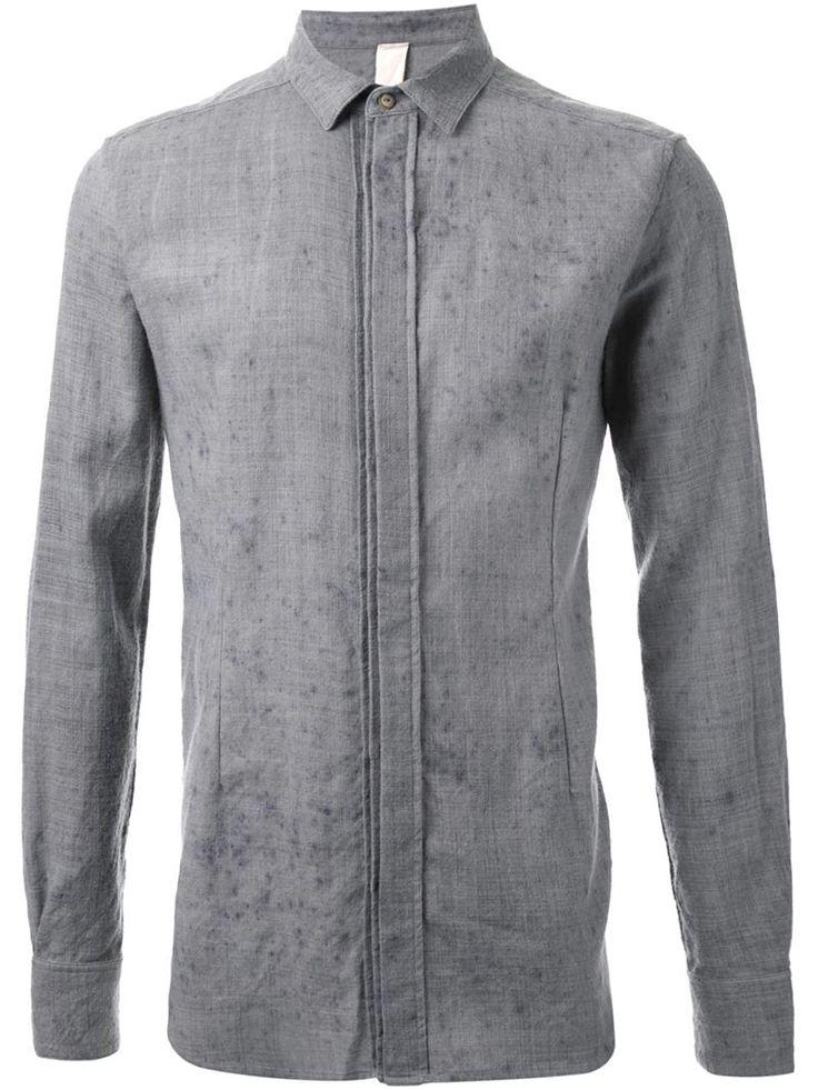 Forme D'expression distressed shirt, Men's, Size: 50, Grey