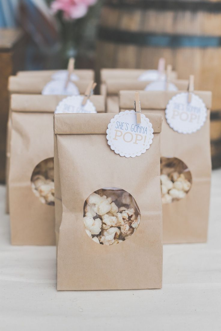 Baby Shower Favors Images ~ Popcorn favor bags snacks baby shower