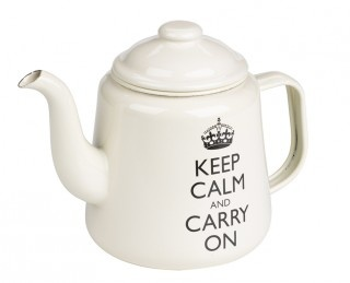 Keep Calm black - Tea pot