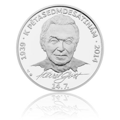 Stříbrná medaile Karel Gott proof | Česká mincovna