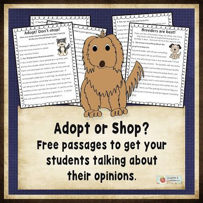 Free passages to get students discussing their opinions... Then, have students write opinion pieces.