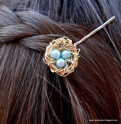 Bird Nest Bobby Pin Tutorial...would like to make a pendant w/the colors/birthstones of my baby!