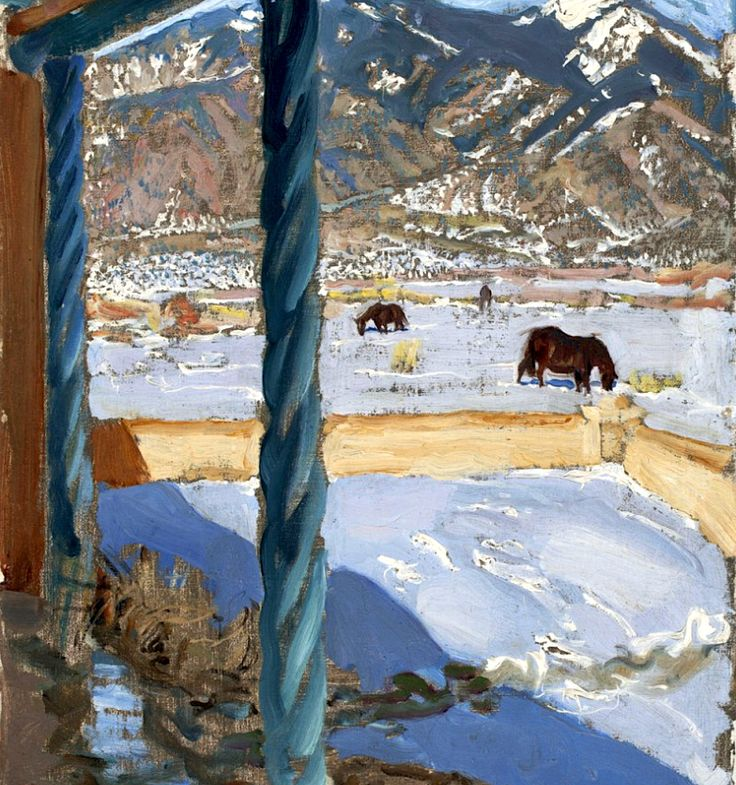 """Taos-Home in Sunshine"", Akseli Gallen-Kallela, 1925"