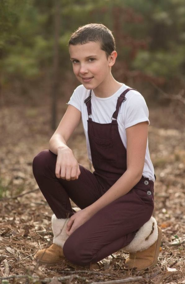 Millie Bobby Brown during filming of Season 1. Ohhhhhh the memories.
