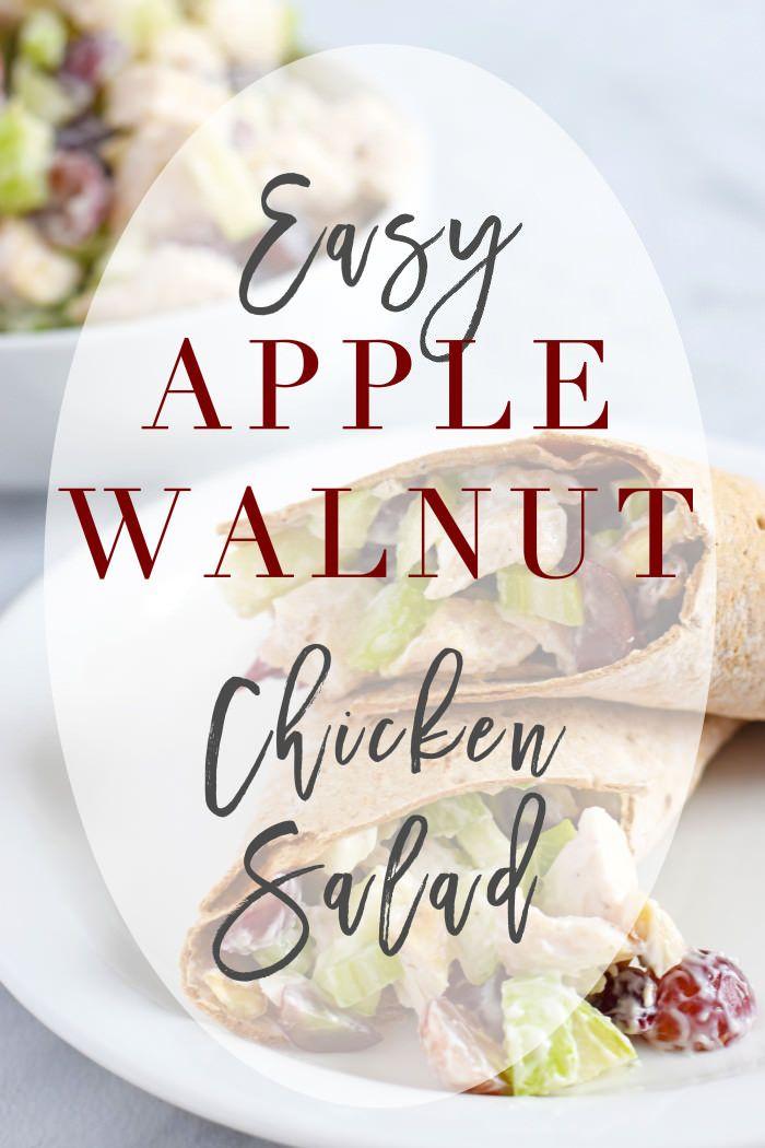 Apple Walnut Chicken Salad! // Easy Homemade Chicken Salad - Lynzy & Co.