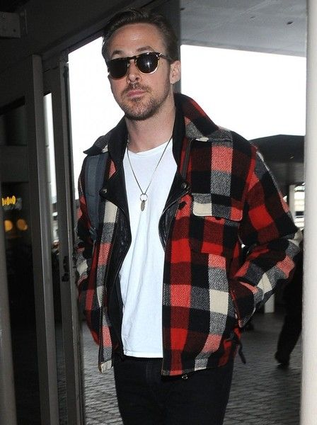 Actor Ryan Gosling is seen departing on a flight at LAX airport in Los Angeles, California on January 9, 2017. Ryan won the Golden Globe for Best Musical Or Comedy for his role in 'La La Land' last night at the awards show.