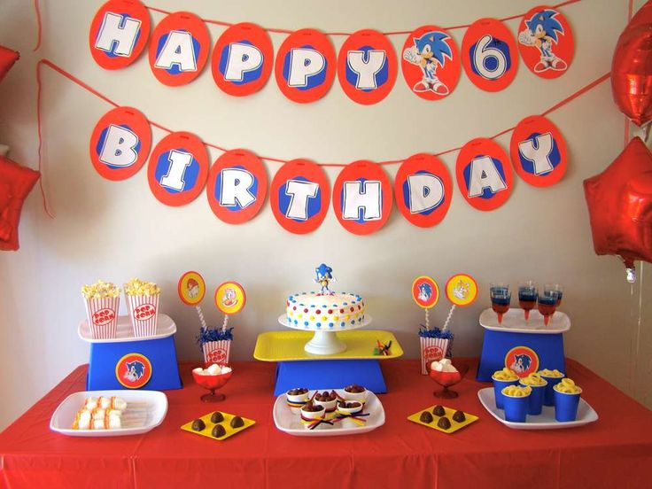 Sonic the Hedgehog Birthday Party Ideas   Photo 5 of 21   Catch My Party