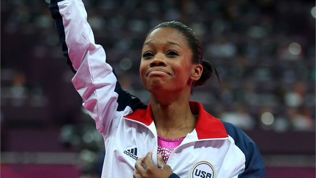 Gabby Douglas wins the gold medal in the all-around gymnastics competition, marking three straight golds in the event for the United States.