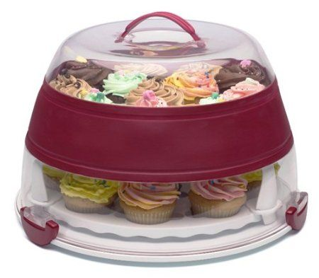 Amazon.com: Progressive International Collapsible Cupcake and Cake Carrier: Kitchen & Dining