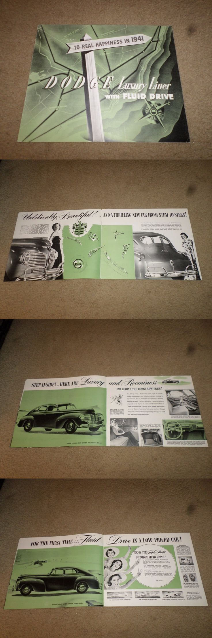 Luxury cars 1941 dodge luxury liner car dealer sales brochure buy it now
