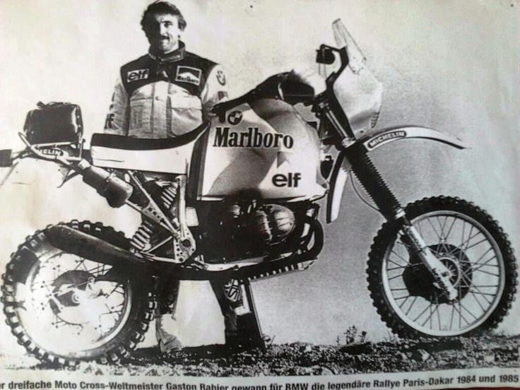 vintage Paris Dakar Rally Motorcycles | Gaston Rahier Paris-Dakar Rally