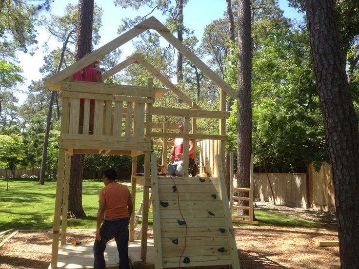 How To Build DIY Wood Fort And Swing Set Plans From Jacku0027s Backyard. Learn  How