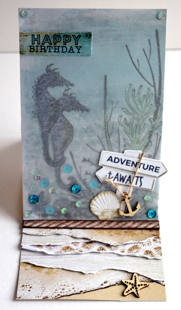 Image result for cards using kaisercraft coastal escape products