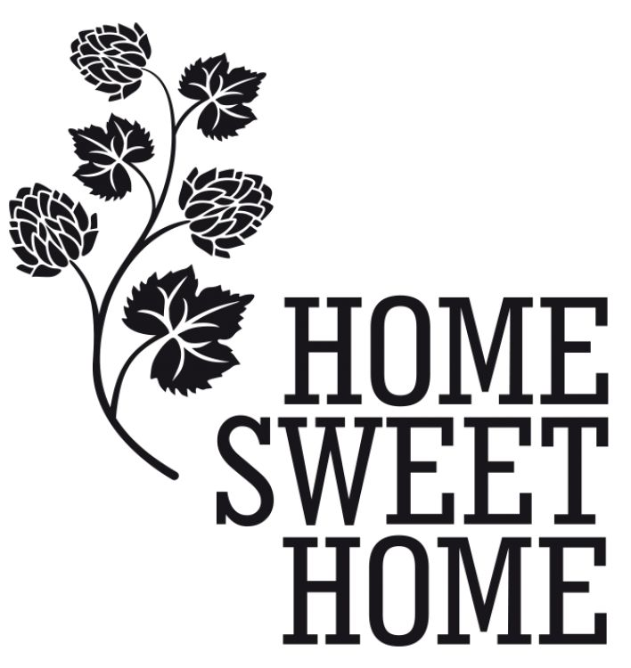 """Wall decal """"Home sweet home"""" - one of wide collection of wall stickers with quotes and inscriptions."""