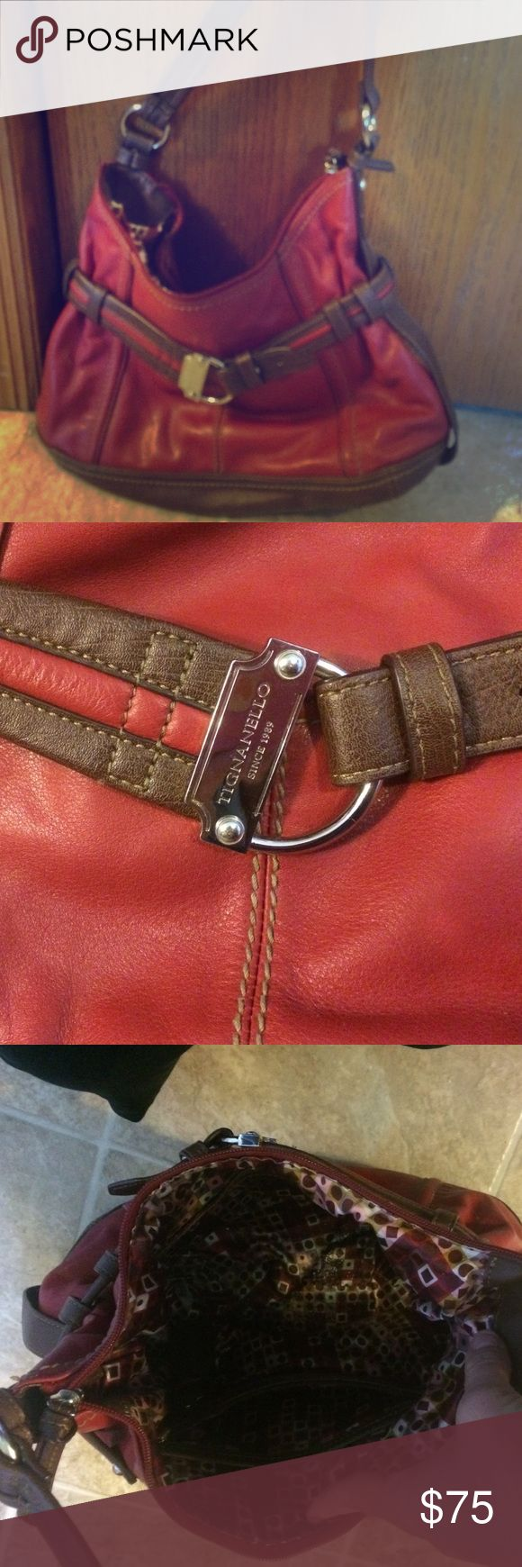 Tignanello Handbag Rarely used beautiful 100% genuine leather handbag. Tignanello Bags Satchels