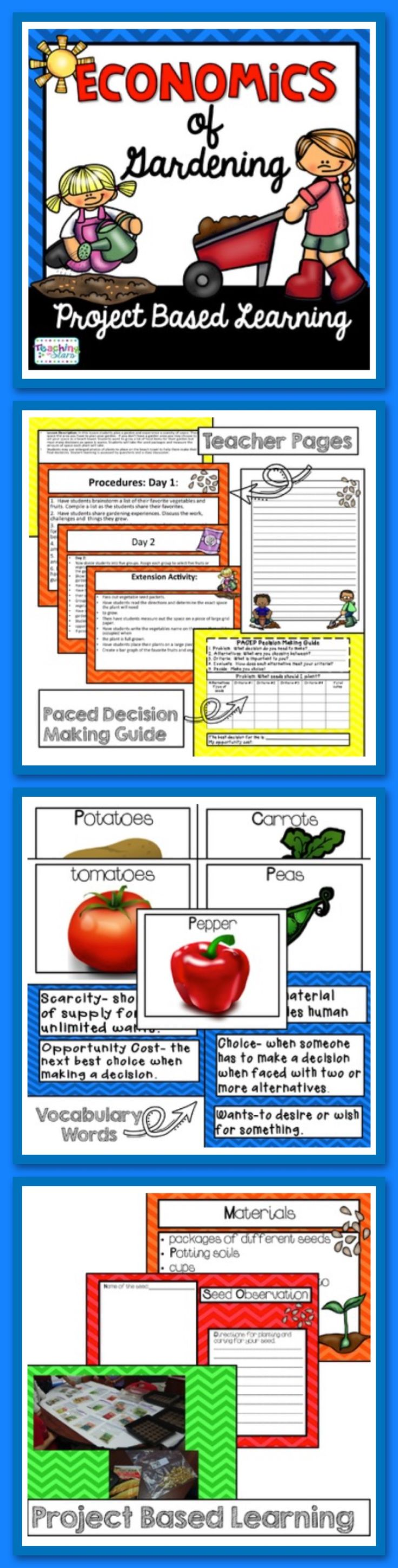 In this lesson students plan a garden and experience a scarcity of space. If you don't have a garden area you may choose to set your space as a beach towel. Students want to grow a lot of food items for their garden but must make decisions as space is scarce. Students will take the seed packages and measure the amount of space each plant will take.  Students may use enlarged photos of plants to place on the beach towel to help them make their final decisions.