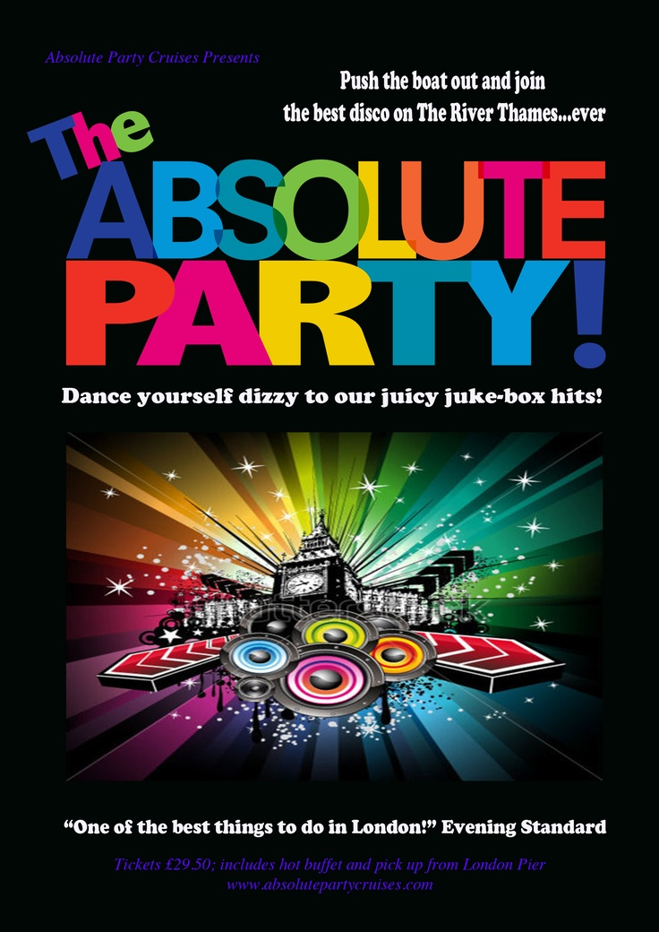 Absolute Party Cruises (Flyer)  #design