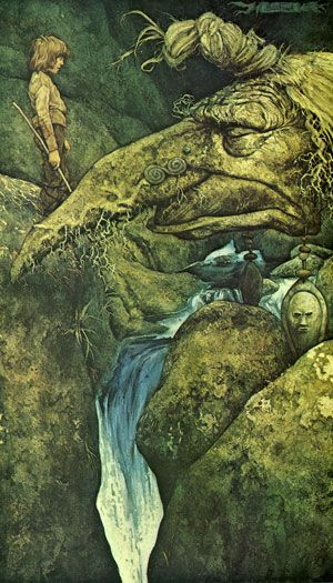 "Into the Woods, 11: Water, Wild and Sacred - The River Teign by Brian Froud Margaret Atwood: ""Water does not resist. Water flows. When you plunge your hand into it, all you feel is a caress. Water is not a solid wall, it will not stop you. But water always goes where it wants to go, and nothing in the end can stand against it. Water is patient. Dripping water wears away a stone. Remember that, my child. Remember you are half water. If you can't go through an obstacle, go around it. Water does."":"