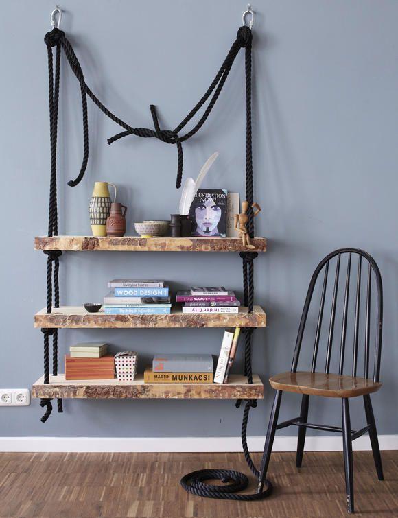 nat rlich robust h ngeregal zum selberbauen wohnzimmer m bel regal und wohnungseinrichtung. Black Bedroom Furniture Sets. Home Design Ideas