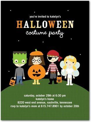 halloween costume party invitations - Kids Halloween Party Invite