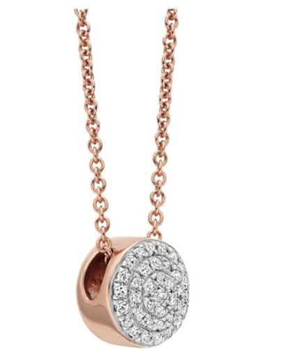 This beautifully crafted AVA Button Necklace is cute as a button made of 18ct Rose Gold Vermeil on Sterling Silver costs £275 at Monica Vinader.
