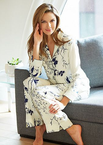 For your country gal: Natalya Silk Print Pajamas in Midnight Floral  http://www.juliannarae.com/products/natalya_silk_print_pajamas.htm?salecategoryID=54