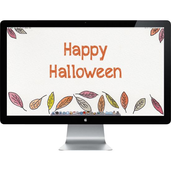 The spirit of it all, Happy Halloween watercolor inspired computer background wallpaper.