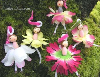 make your own flower fairies