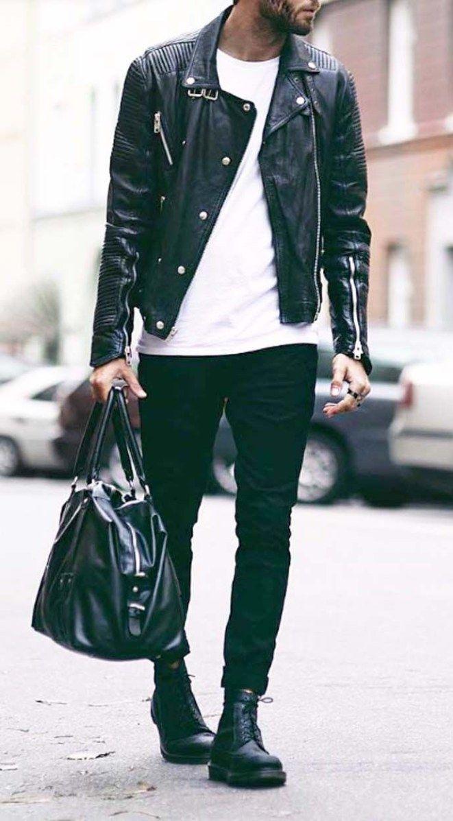 Image Of Men S Jacket Leather Jacket Men Jackets Men Fashion Spring Outfits Men [ 1197 x 661 Pixel ]