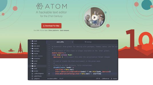 WEB DESIGNTUTORIAL Get more from the Atom text editor …………………….Jessica Lord introduces Atom, GitHub's net award-winning text editor built on web technology that is hackable to the core……………………….. IS IT FOR TESTING CODE TYPE THING???