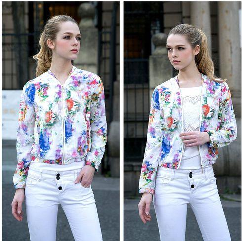 KCLOTH Colorful Printed Zip Jacket O1530 #KCloth