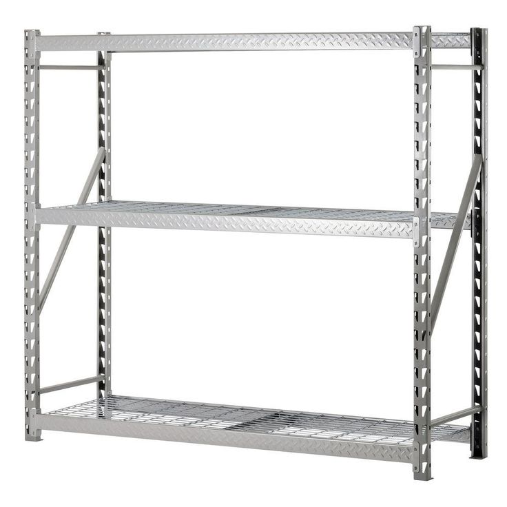 Edsal 72 in. H x 77 in. W x 24 in. D 3-Shelf Steel Commercial Shelving Unit in Silver-TP722472W3 - The Home Depot
