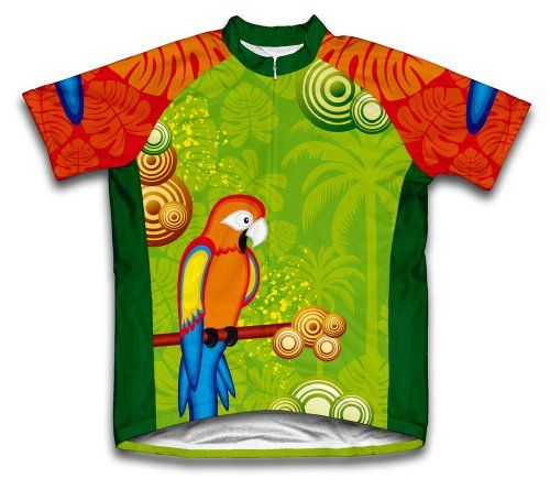 Parrot Paradise Short Sleeve Cycling Jersey for Women  Size M * Visit the image link more details.