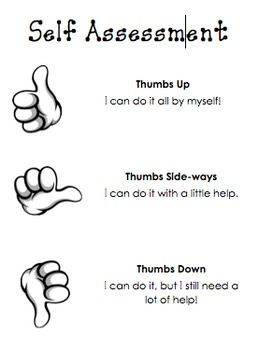 I Have Been Seeing Thumbs Up Assessment A Lot Lately. So, Here Is A Simple Self  Assessment Chart To Use As A Quick Reference During Small Group And Whole  ...