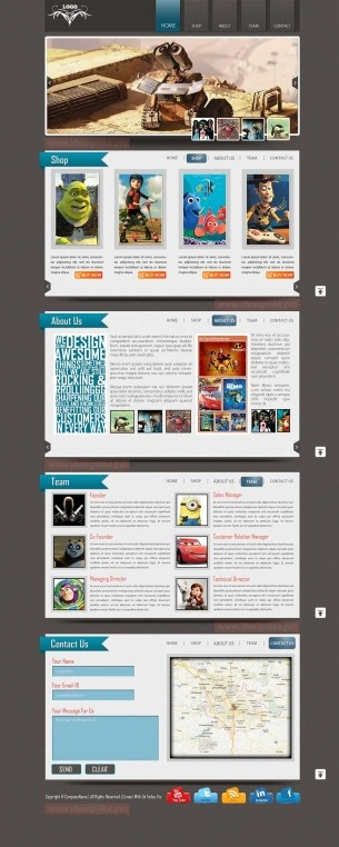 An Online Animated Movie Library Web Theme