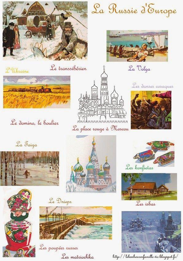 Le bonheur en famille: Géographie, la Russie d'Europe...