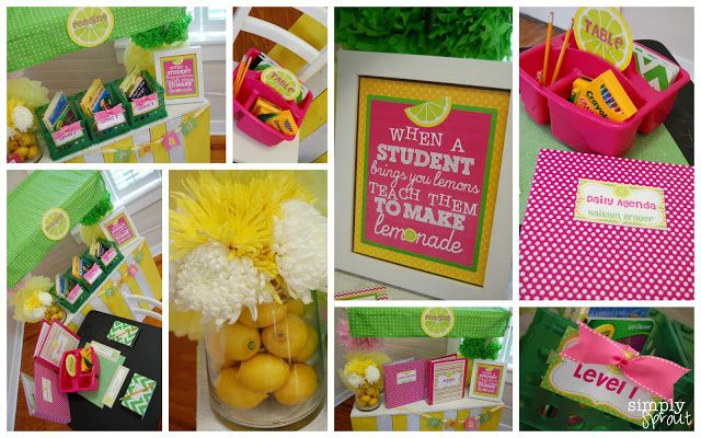 Brighten your classroom for Back to school, Teachers check out our latest Pink Lemonade Classroom Design Kit ~ Simply Sprout