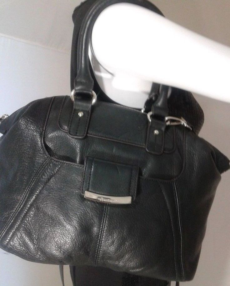 B.Makowsky Black  Handbag Soft Pebbled Leather Purse #BMakowsky #ShoulderBagHandbag