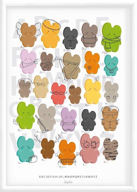 rtuiop: Ideas, Abc Poster, Decoration, Illustration, Kids, Baby