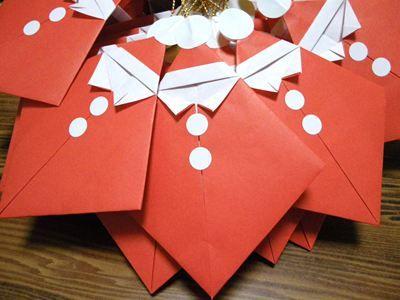 折り紙サンタ                                                                                                                                                                                 もっと見る