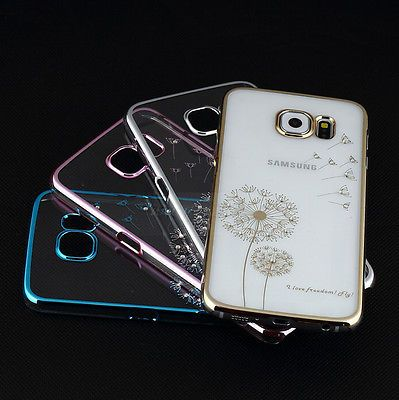 HOT! Ultra Thin Electroplate Metal Clear Case Cover for Samsung Galaxy S6 / Edge