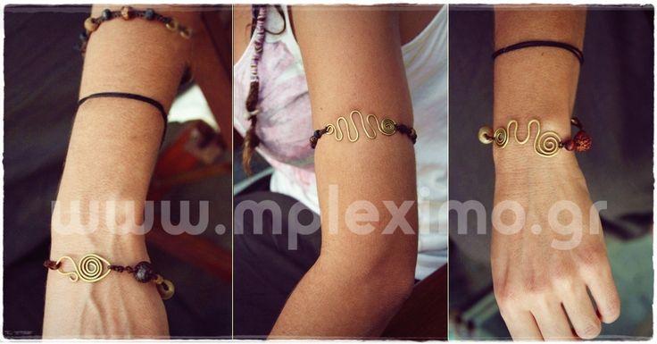 handmade cooper macrame bracelets