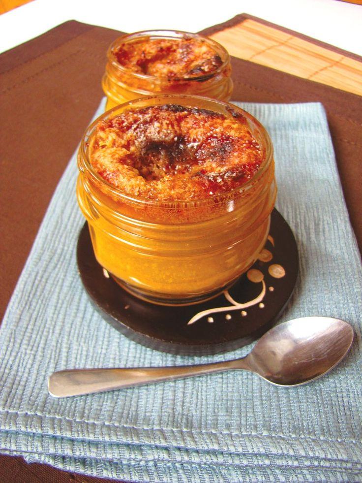 Pumpkin Creme Brulee in Mason Jars Recipe. Creamy, spiced pumpkin with a crisp sugar crust is as elegant as it is comforting.
