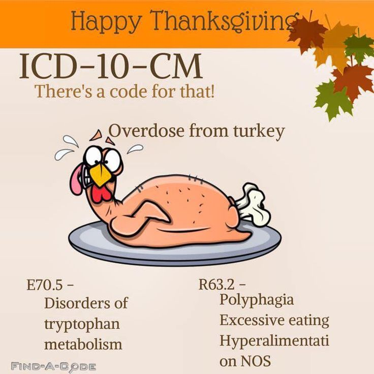 """ICD-10-CM """"Overdose from turkey"""""""