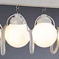 Awning Lights - 10 Globes (White Smooth) ... oversized decorative string lights for gazebos, RV awnings, umbrellas, party/wedding tents, etc. One of our brightest light strings available. $134.95
