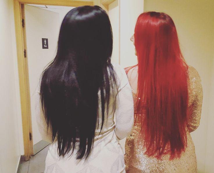 Best Friend Goals Hair Goals Red Hair Black Hair